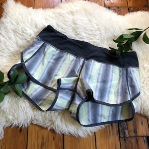 Lululemon🌿Speed Shorts Mexican Blanket Stripe 6